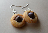 Peanut Butter Blossom Cookie Dangle Earrings