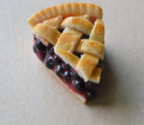 Blueberry Pie Slice Charm or Key Chain