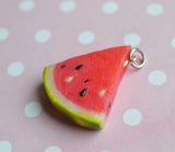 Watermelon Slice Polymer Clay Charm or Key Chain