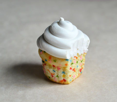 Confetti Vanilla Cupcake Polymer Clay Miniature Food Magnet