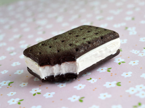 Ice Cream Sandwich Polymer Clay Food Magnet