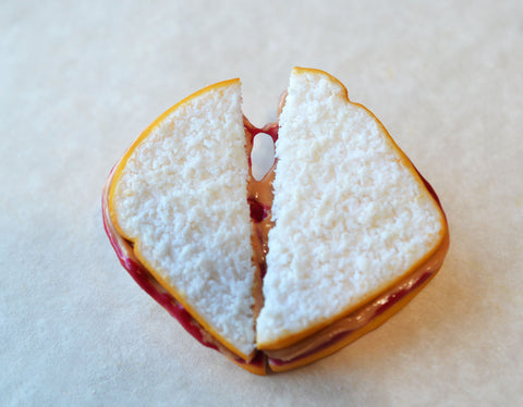 strawberry peanut butter and jelly sandwich magnet