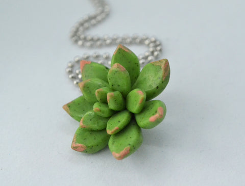 Granite texture Miniature Succulent Necklace
