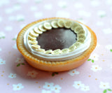 Chocolate Banana Cream Pie Miniature Food Polymer Clay Magnet