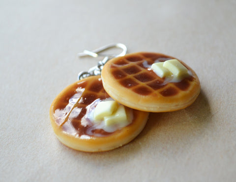 Buttery Waffle Hook Earrings