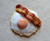 Fried Egg and Bacon Magnet, Polymer Clay Food Magnet