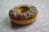 Chocolate Rainbow Sprinkle Doughnut Magnet Polymer Clay food Magnet