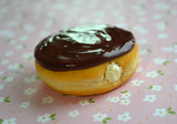 Boston Cream Doughnut Polymer Clay Food Magnet Miniature Food Magnet