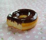 Chocolate Glazed Doughnut Food Magnet Polymer Clay Miniature Food