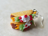 Miniature Taco Hook Dangle Earring Polymer Clay Mini Food