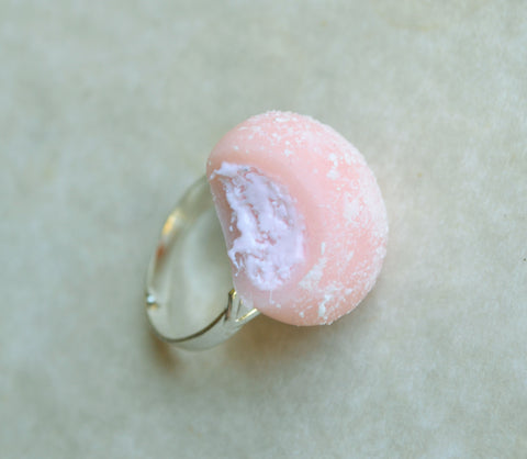 Strawberry Ice Cream Mochi Adjustable Mini Food Ring