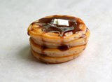 Stack of Pancakes Polymer Clay Food Magnet