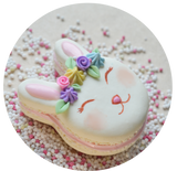 Bunny French Macaron Miniature Food Magnet, Polymer Clay, Food Decor