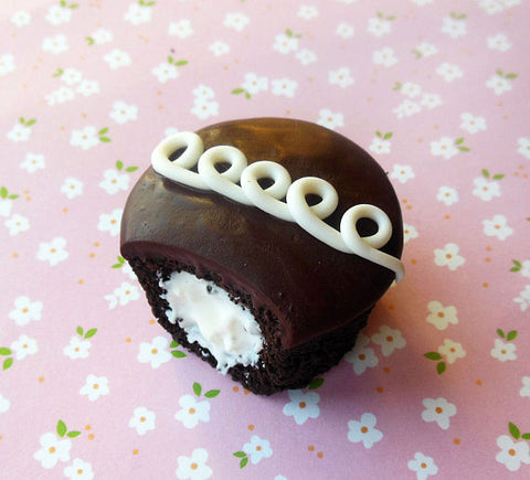 Chocolate Cupcake Miniature Food Polymer Clay Magnet