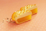 Lemon Meringue Pie  Polymer Clay Hook Earrings