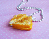 grilled cheese sandwich necklace, Polymer Clay