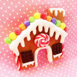 Gingerbread House Polymer Clay Christmas Magnet