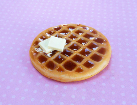 Round Waffle Polymer Clay Magnet