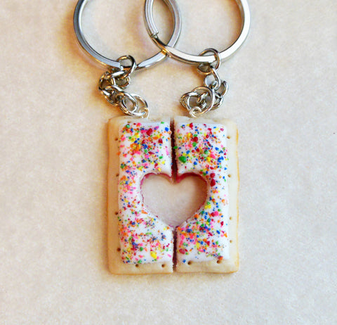 best friend pop tart key chains polymer clay
