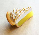 Lemon Meringue Pie Polymer Clay Magnet