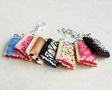Poptart Mini Food Charm Bracelet, Polymer Clay