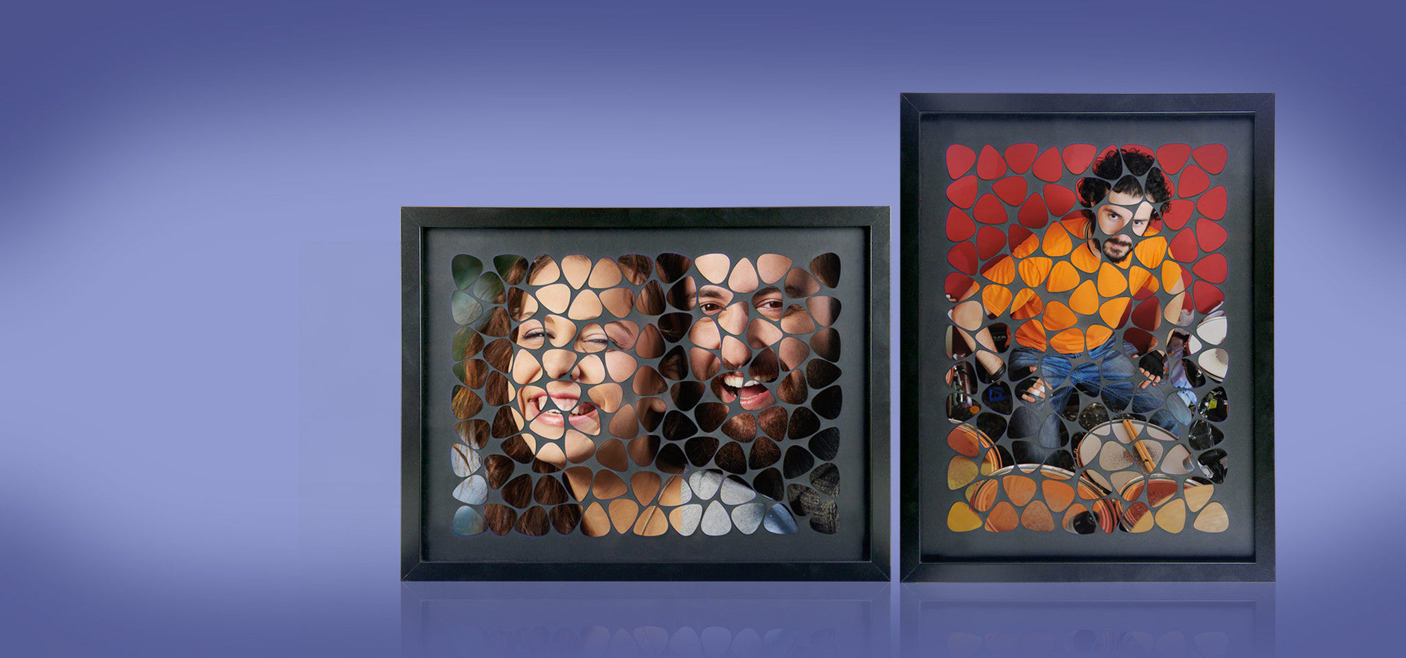Custom Guitar Pick Photo Frames