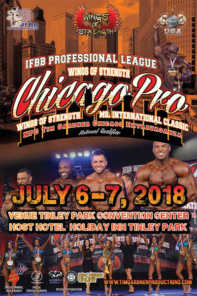 2018 NPC Tim Gardner Chicago Extravaganza & Wings of Strength Ms. International Classic Photo Package