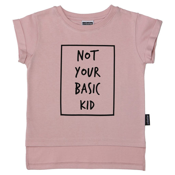 Not Your Basic Kid T-shirt - Dusty Pink