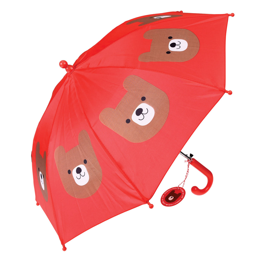 Rex London Bruno The Bear Children's Umbrella open