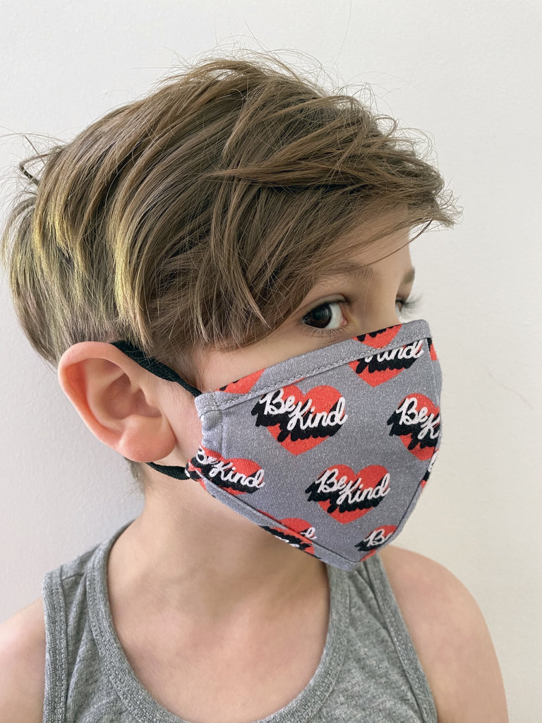 Whistle & Flute Face Mask - Be Kind - 2 sizes Kids + Adults