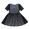 Girls Fit and Flare Mesh Dress | Black