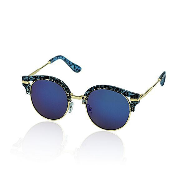 Saskia Sunglasses | Blue Leopard
