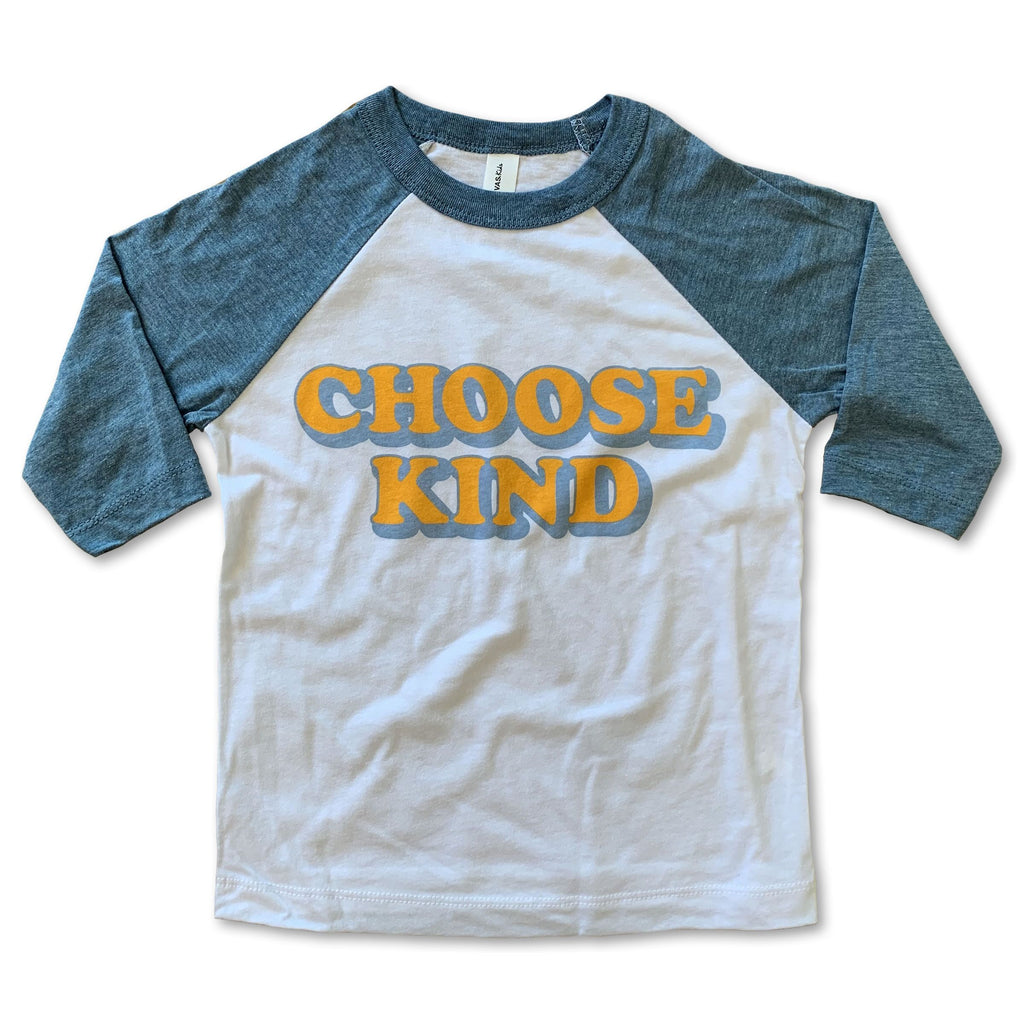 Rivet Apparel Co Choose Kind Baseball Tee