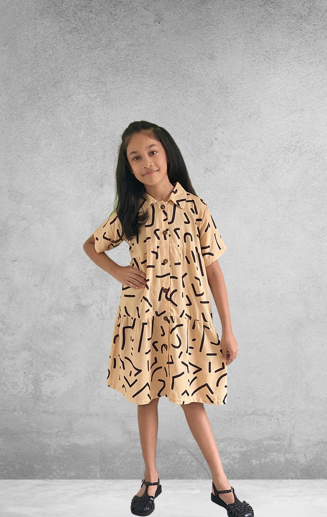 Ohana Kids Dress - Brownies