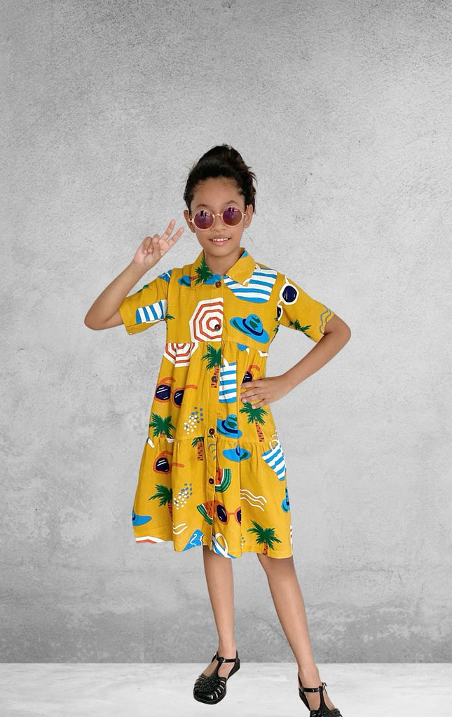 Ohana Kids Dress - Golden Beach