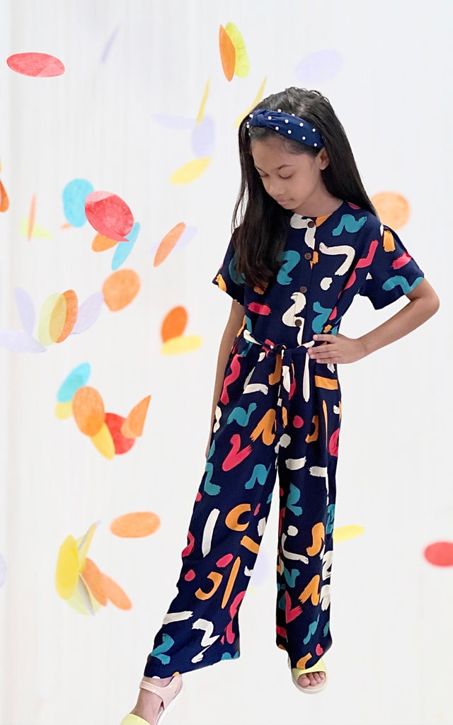 Nova Kids Jumpsuit - Candy Prints (Twinning)