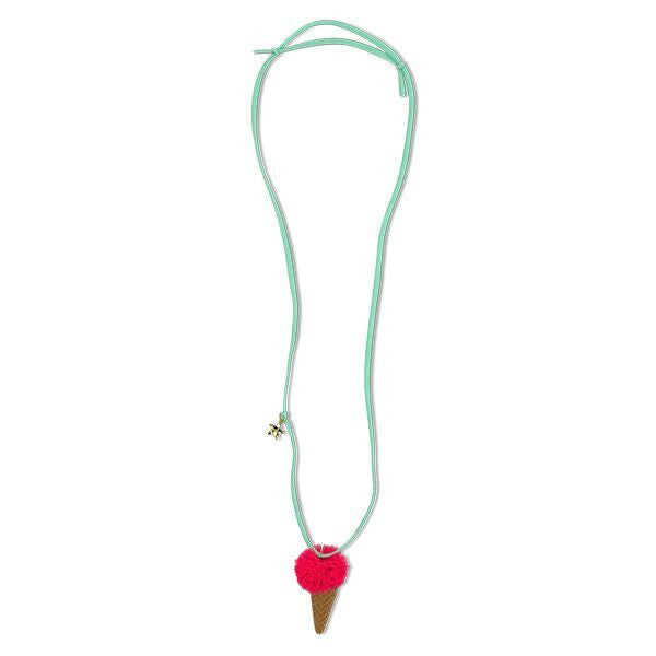 Ice Cream Necklace | Pink