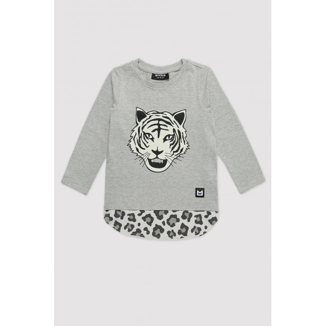 MINIKID Long Sleeve White Tiger T-shirt front