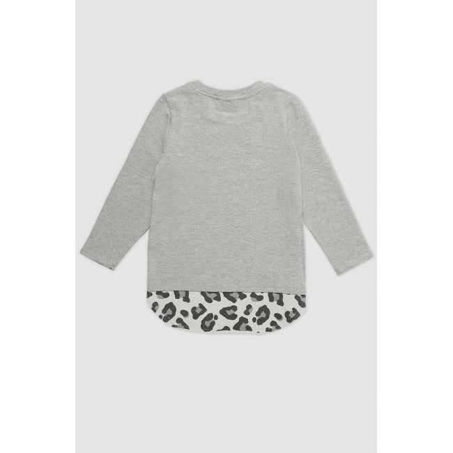 MINIKID Long Sleeve White Tiger T-shirt back
