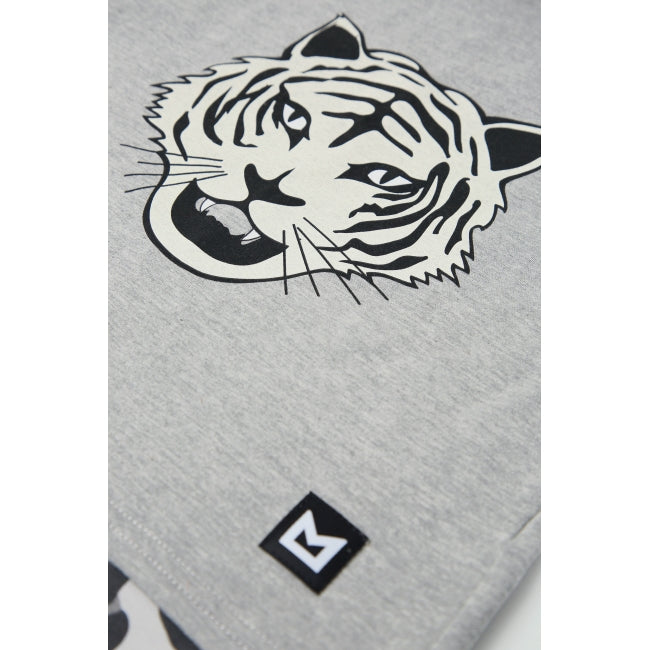 MINIKID Long Sleeve White Tiger T-shirt print detail