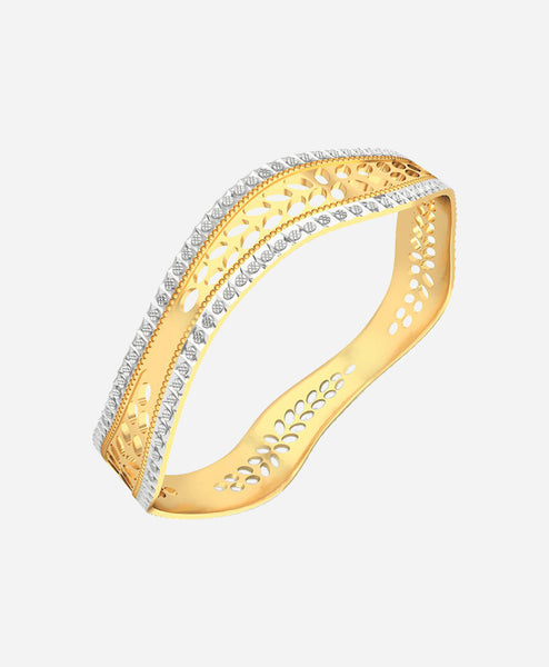 Bizotik Gold Color Brass Cuff For Girls/Women