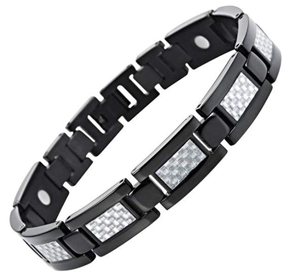 Willis Judd Carbon Fiber Titanium Magnetic Bracelet Size Adjusting Tool and Gift Box Included