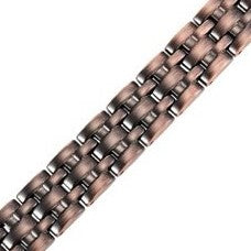 Mens Willis Judd Titanium Magnetic Therapy Bracelet Copper Colour Size Adjusting Tool and Gift Box Included