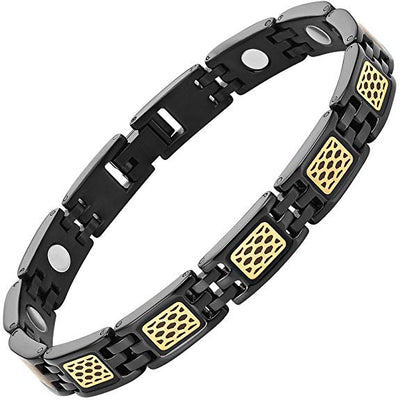 Willis Judd Womens Titanium Magnetic Therapy Bracelet with Honey CombAdjustable and Gift Box Included
