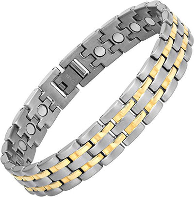 Mens Willis Judd Titanium Magnetic Therapy Bracelet Size Adjusting Tool and Gift Box Included