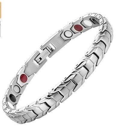 Womens Titanium Elements Magnetic Therapy Bracelet for Arthritis Pain Relief Adjustable By Willis Judd