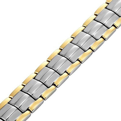 Mens Willis Judd Double Strength 4 Element Titanium Magnetic Therapy Bracelet for Arthritis Pain Relief Size Adjusting Tool and Gift Box Included