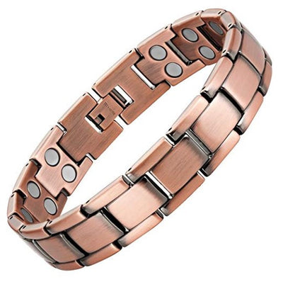 Mens Willis Judd Double Strength Titanium Magnetic Therapy Bracelet for Arthritis Pain Relief