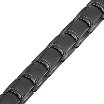 Mens Willis Judd Titanium Magnetic Therapy Bracelet Black Size Adjusting Tool and Gift Box Included