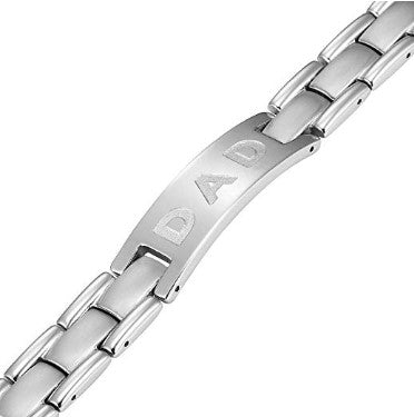 Willis Judd DAD Titanium Bracelet Engraved Love You Dad Size Adjusting Tool and Gift Box Included